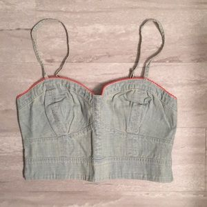 Jean cropped top